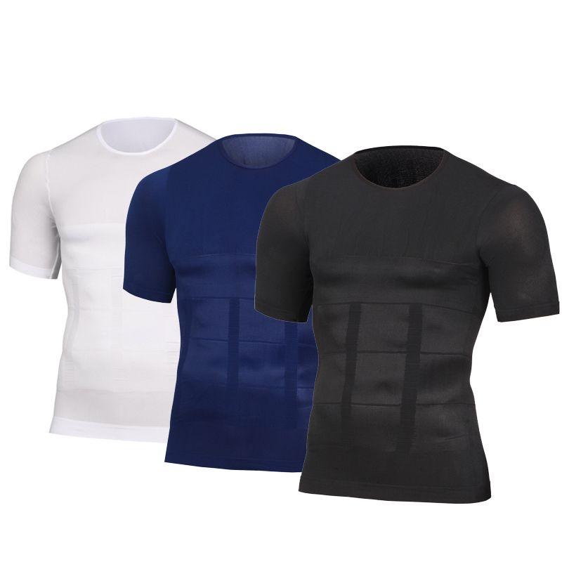 Men's Slimming Shaper Posture Vest Male Belly Abdomen For Corrector Compression Body building Fat Burn Chest Tummy Shirt Corset