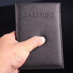 Del color del caramelo de la PU pasaporte ID tarjeta de crédito Ticket Travel Passport cubierta carpeta titular de protección (personalizar disponible)