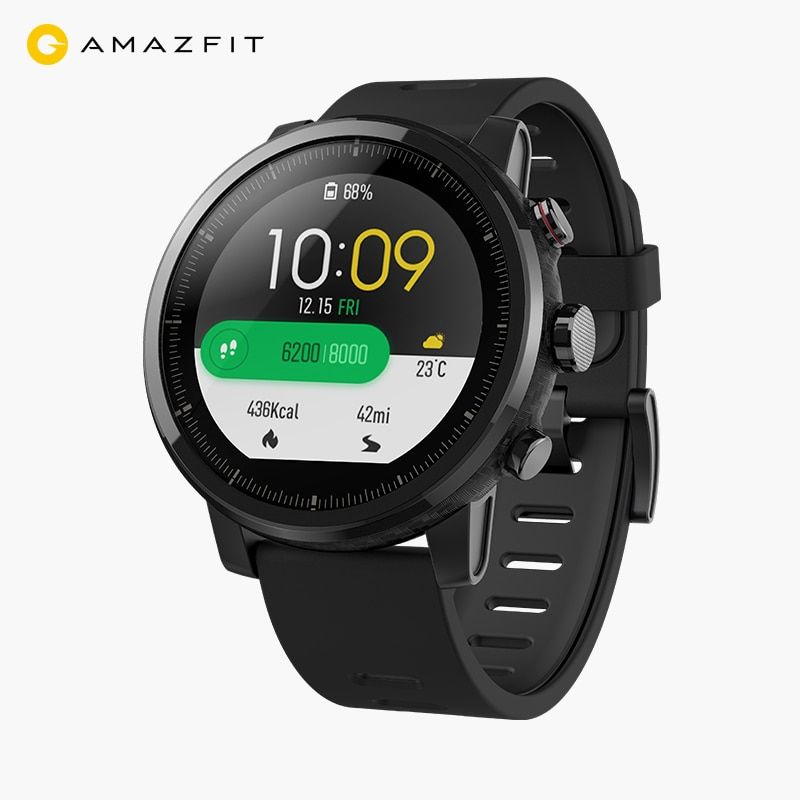 Xiaomi Huami Amazfit Stratos Pace 2 Smart Watch men GPS PPG Heart Rate Monitor 5ATM Music Player Supports Firstbeat