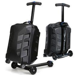 Baru Designe 21 Inci TSA Kunci Skuter Bagasi Koper Aluminium dengan Roda Skateboard Bergulir Bagasi Perjalanan Trolley Case