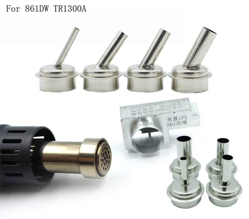 7pcs air gun head for microscope A8 A9 CPU blade fly line 45 degrees Air gun nozzle for quick 861DW TR1300A