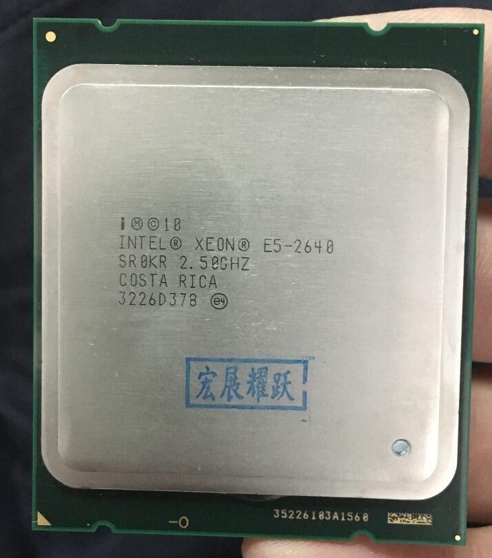 Intel Xeon Processor E5-2640  E5 2640 Six Core C2 Desktop processor 100% normal work  CPU 2.5 LGA 2011 SROKR