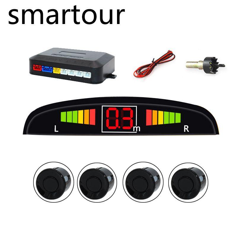 Smartour Parking emplacement voiture Auto Parktronic avec 4 capteur inverse ultrasons Radar détection veille Radar système de surveillance