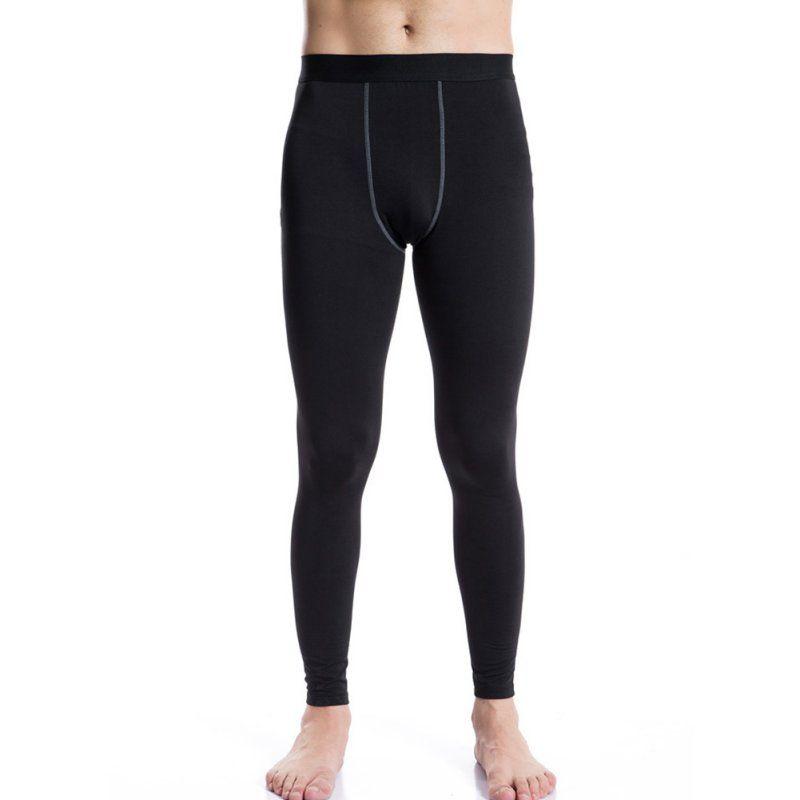 Hommes Chaud Pantalons Longs couche de Base Thermique Épais Sous-Vêtements Hiver Marine