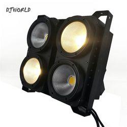 Kombinasi 4x100 W 4 Mata LED Blinder Cahaya COB Keren/Hangat Putih LED Tinggi Daya Tahap Profesional pencahayaan Untuk Lantai Dansa Pesta