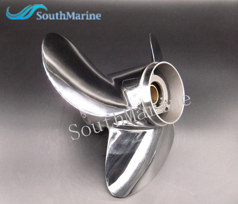 11 1/8x14-F Boat Motor Stainless Steel Propeller For Yamaha 40HP 50HP Outboard Motor 11 1/8 x 14 -F
