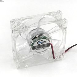 Pc ordinateur ventilateur 80mm avec 4ea led 8025 8 cm silencieux DC 12 V LED lumineux châssis molex 4D plug ventilateur axial