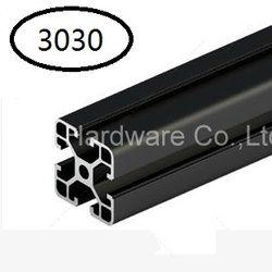Noir En Aluminium Profil Aluminium Extrusion Profil 3030 30*30 couramment utilisé dans le montage cadre du dispositif, table et présentoir