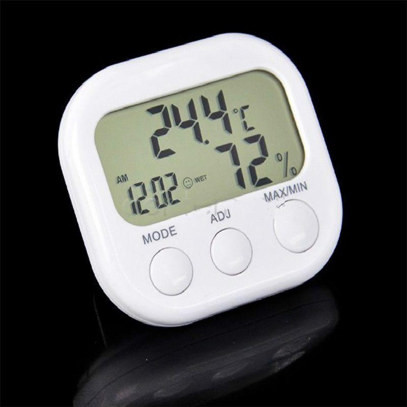 LCD Digitale Wetterstation Thermometer Hygrometer Indoor Elektronische Temperatur Luftfeuchtigkeit sensor Meter Uhr