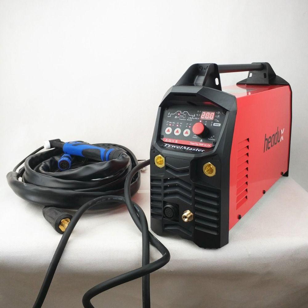 Professional 200A ACDC Pulse Tig Welding Machine Digital Control AC/DC Pulse IGBT Inverter TIG/MMA Welding Equipment