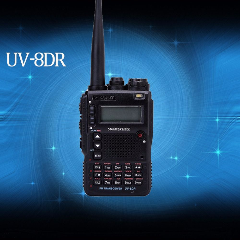 The New VEASU UV-8DR Tri-Band 136-174/240-260/400-520mhz CB Radio ham radio walkie talkie VX-8DR baofeng bf-a58 retevis rt3