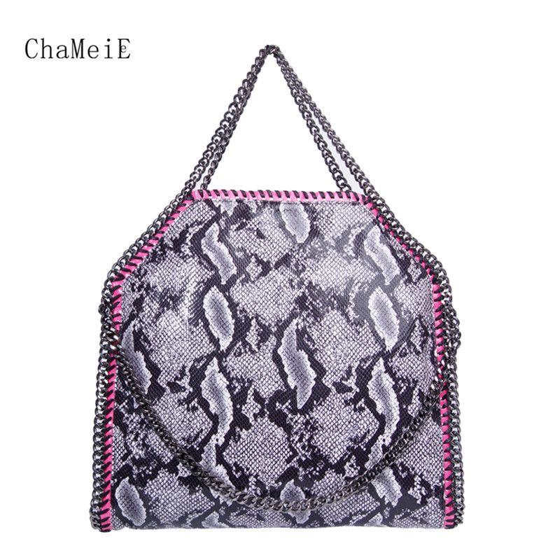 Newest Women 3 Chains Handbag Famous Brand Designer Classic Style Shoulder Bag PVC Large Female Totes Bolsa Sac 37cm