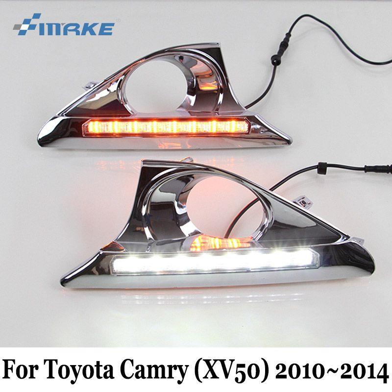 SMRKE DRL For Toyota Camry XV50 2010~2014 / 12V Car LED Daytime Running Light & Cornering Lamp / Car Styling Fog Lamp Frame