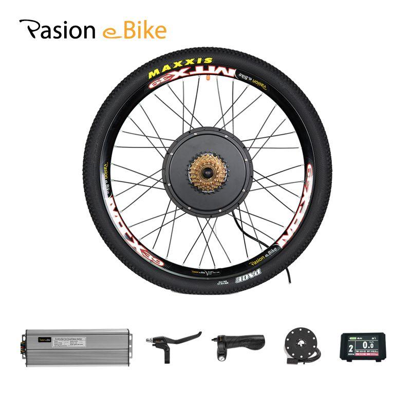 48 v 1500 watt 7-Speed Motor Rad Elektrische Bike Kit Elektrische Fahrrad Conversion Kit für 20 24 26 700C 28 29 zoll Hinten Motor Rad Kit