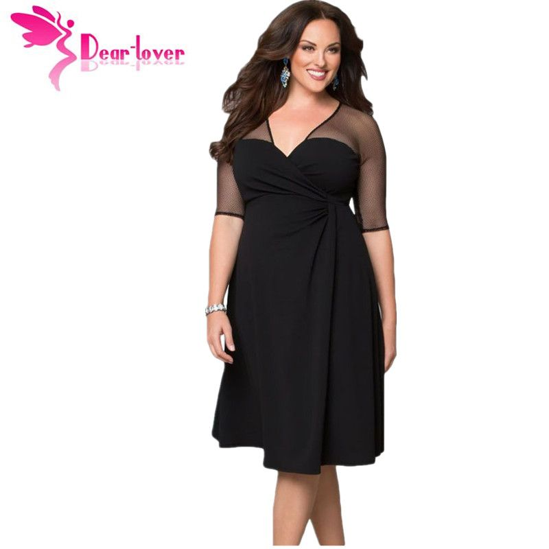 Dear <font><b>Lover</b></font> Plus Size XXL Women Fashion Half Sleeve Work Wear Sugar and Spice Dress cozy vestidos autumn dress big sizes LC60671