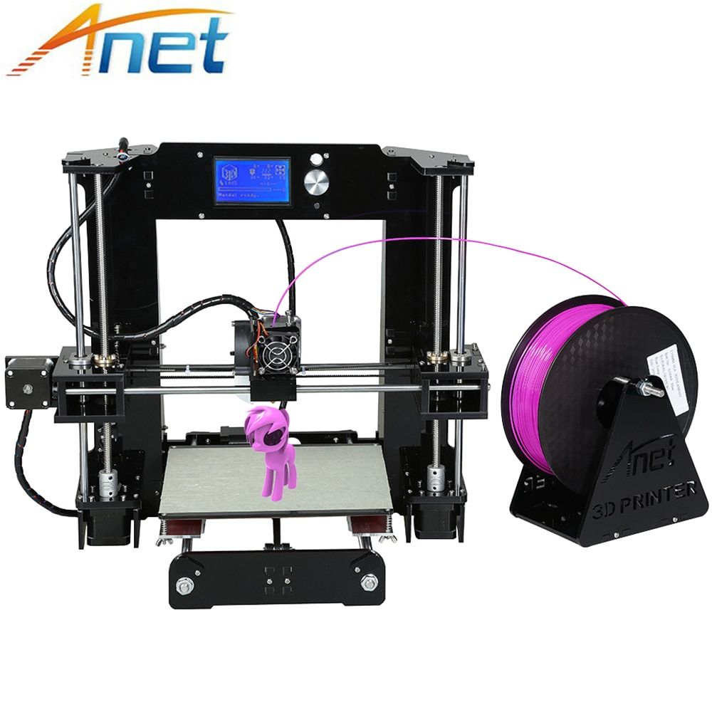 Anet A6 A8 3D Printer Kit Big Size 220*220*250mm/220*220*240mm Large Printing Size Hotbed with Filaments+8G SD Card+Tools