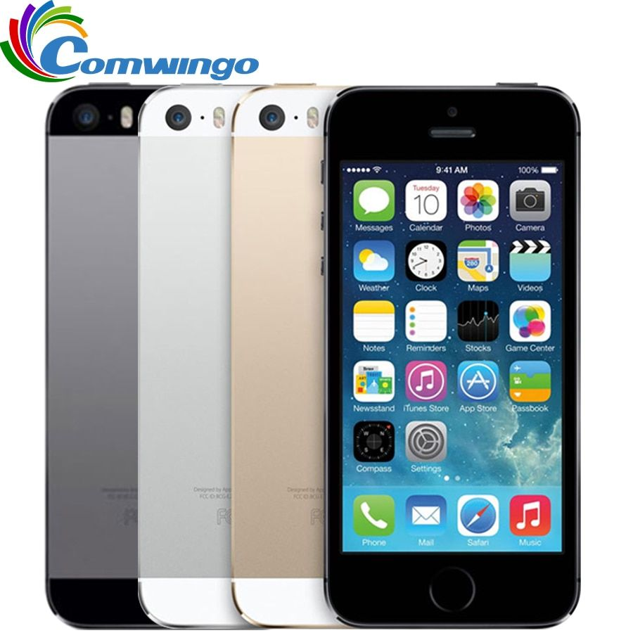 Original Unlocked Apple iphone 5S 16GB / 32GB ROM IOS iphone 5s White Black Gold GPS GPRS A7 IPS LTE <font><b>Cell</b></font> phone iPhone5s