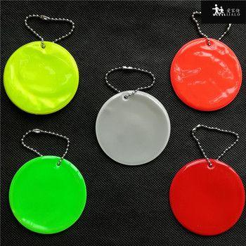 Réfléchissant Pendentif sac pendentif charme accessoires réfléchissant porte-clés porte-clés pour la sécurité routière utilisation ronde modèle