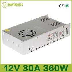 Meilleure qualité 12 V 30A 360 W Alimentation à découpage Pilote pour la Bande de LED AC 110-240 V Entrée pour DC 12 V Livraison gratuite