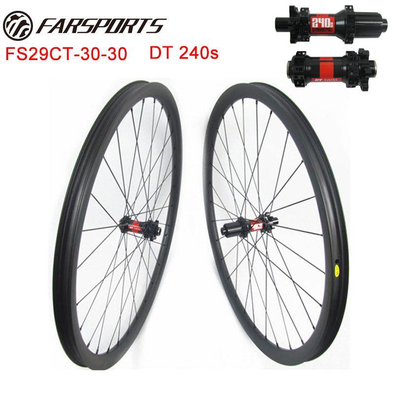 29er mountainbike radsätze 30mm 30mm mit DT hub und Sapim aero speichen tubeless ready leichte MTB radsätze