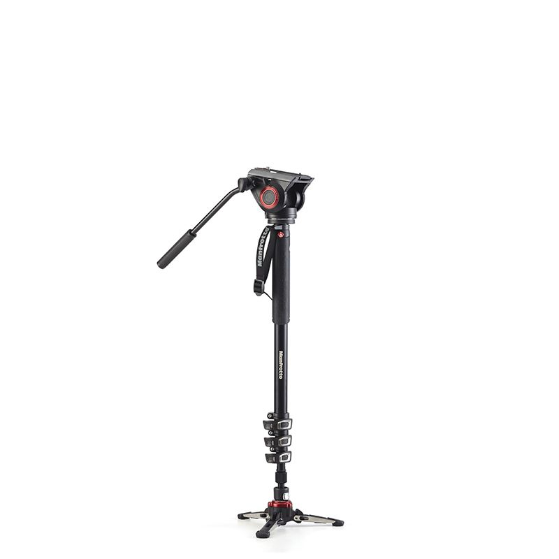 Manfrotto XPRO Monopod Four-Section Aluminum Fluid Video Head Professional Digital Camera Tripod Kit Portable Monopod For SLR