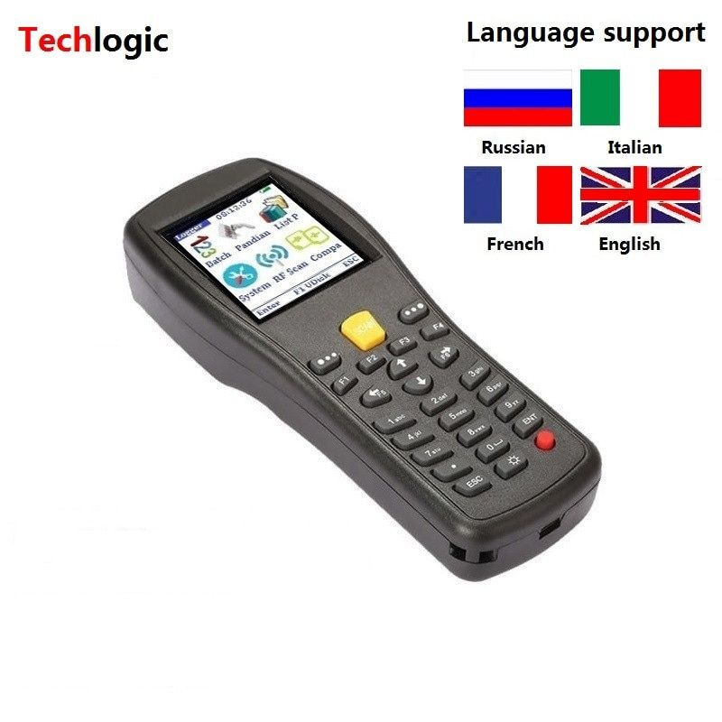 Techlogic X3 Wireless Barcode Scanner Handheld Terminal PDA Supermarket Warehouse Laser Bar Code Gun Inventory Barcode Scanner