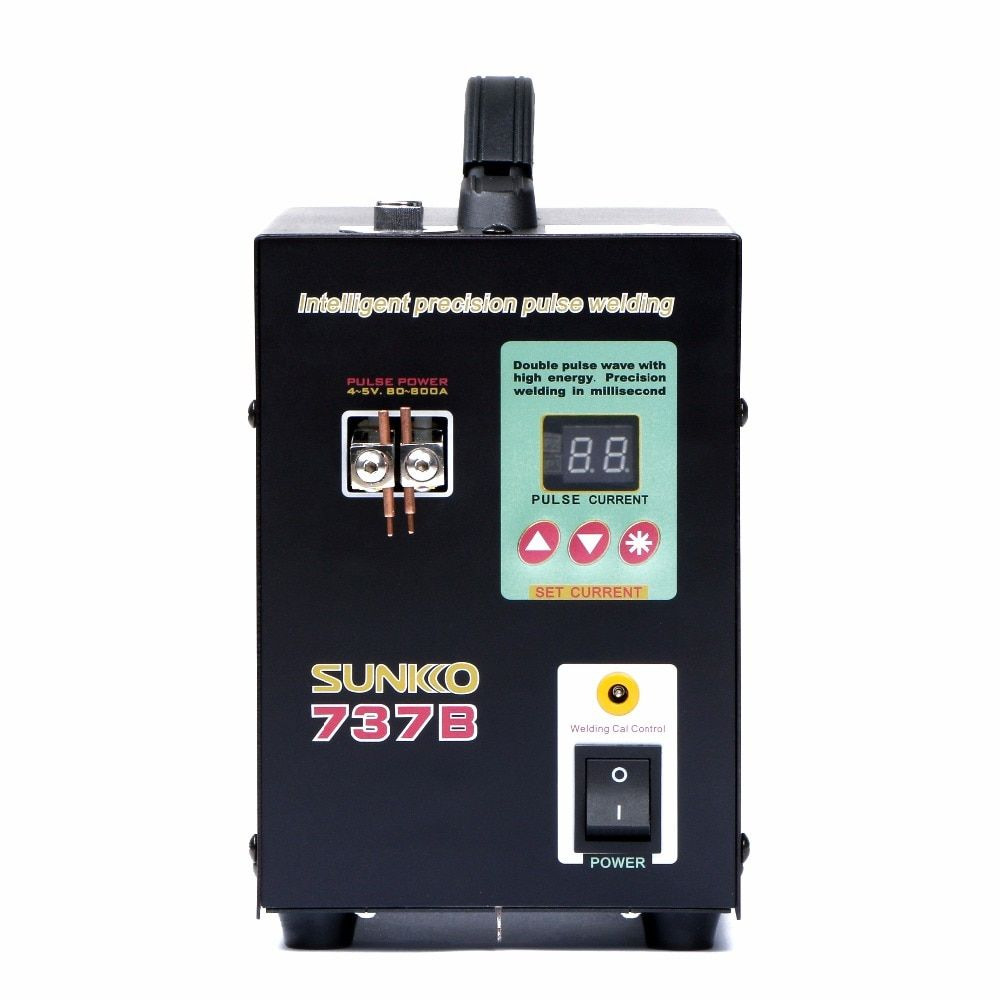 SUNKKO 737B Battery Spot Welder with Pulse LCD Display for 18650 Lithium Battery Packs 1.5kw