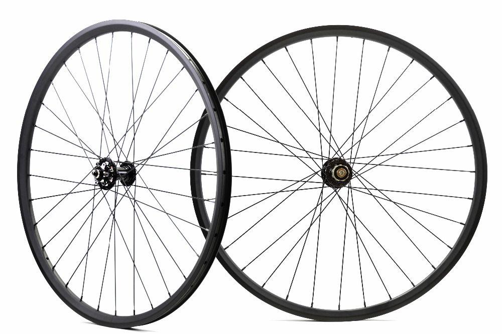 Asymmetric 29ER MTB XC  hookless carbon wheels Tubeless ready 27mm width 23mm depth mountain bike carbon wheelset boost ready
