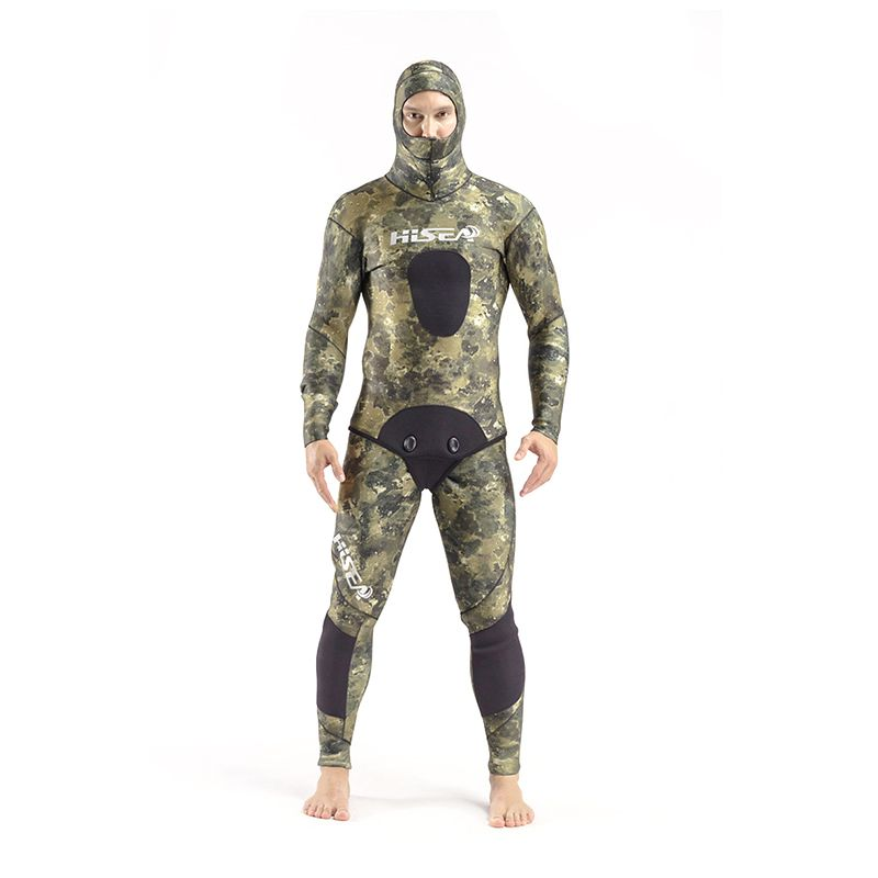 SEAC 3.5mm Winter Wetsuit 2-pieces Men's Sports Suits Full Body Long Sleeve Yamamoto Diving Suit Keep Warm Rash Guards Jumpsuit