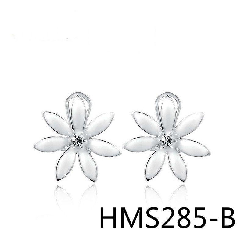 Импортные товары хорошо продаются ювелирные изделия серьги Австрия Кристалл война в раю белый цветок уха клип HMS285