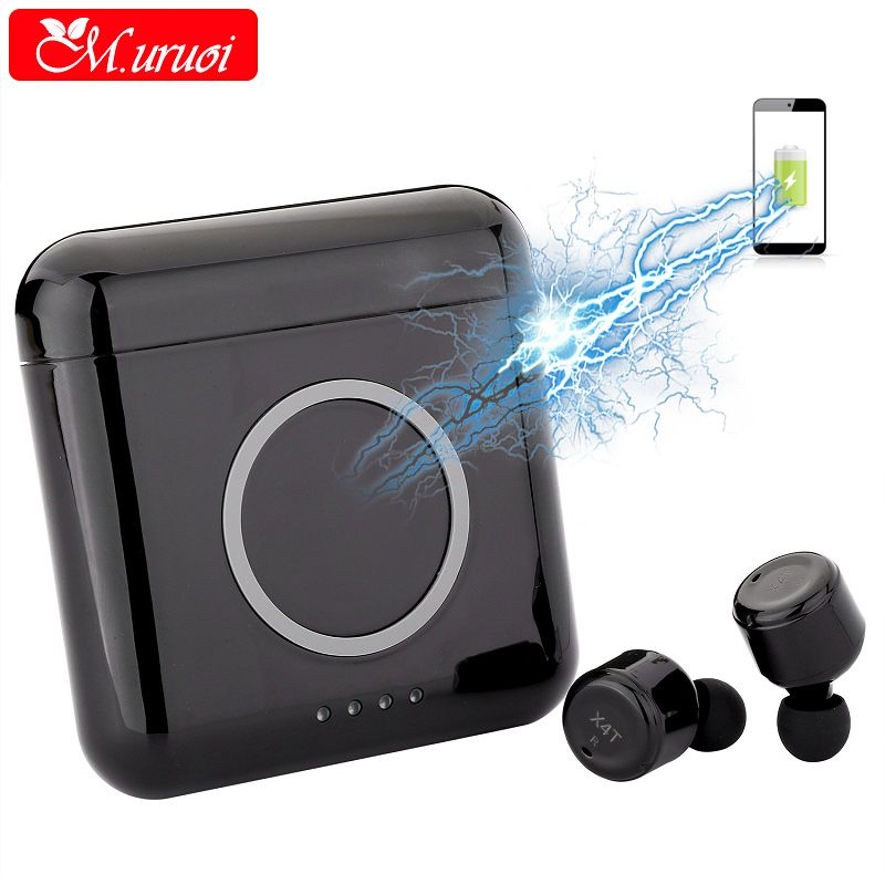 M.uruoi Bluetooth 4.2 Earphone With 5200mAh Charging Cabin Headset Handsfree Bluetooth Earbuds for Phone True Wireless Earphones