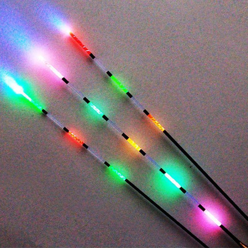 3 pcs Led Électronique Flotteur De Pêche + Batterie Night Vision Électrique Float Pêche Batterie Légère Tackle Flotteur Électronique Lumineux
