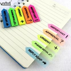 VODOOL Fluorescence Color Self Adhesive Memo Pad Sticky Notes Bookmark Point It Marker Memo Sticker Paper Office School Supplies