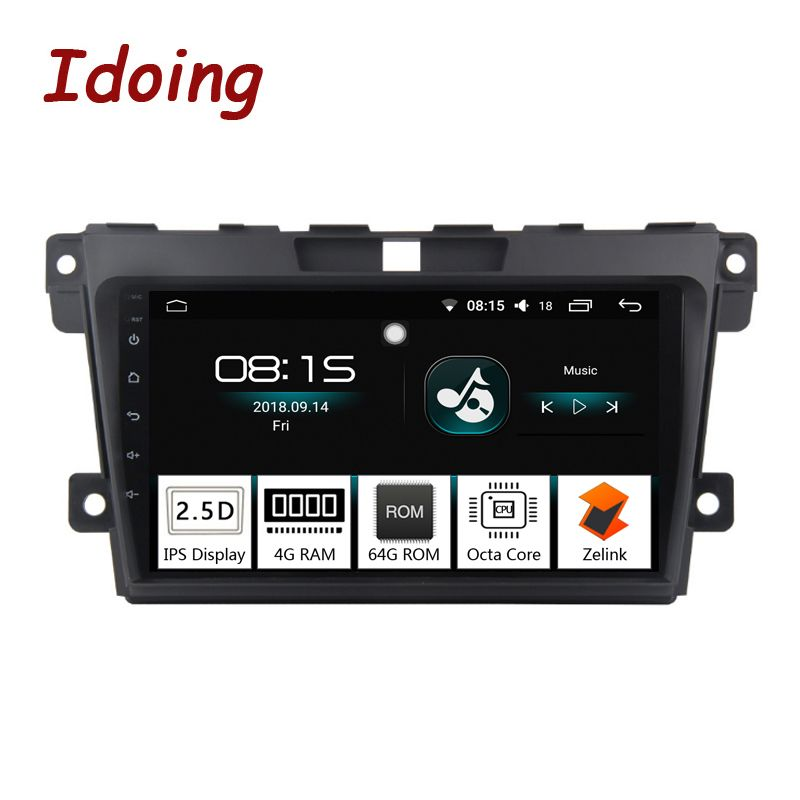 Idoing 1Din 2.5D IPS Screen Car Android8.0 Radio Vedio Multimedia Player Fit Mazda CX-7 CX 7 CX7 4G+64G GPS Navigation Fast Boot
