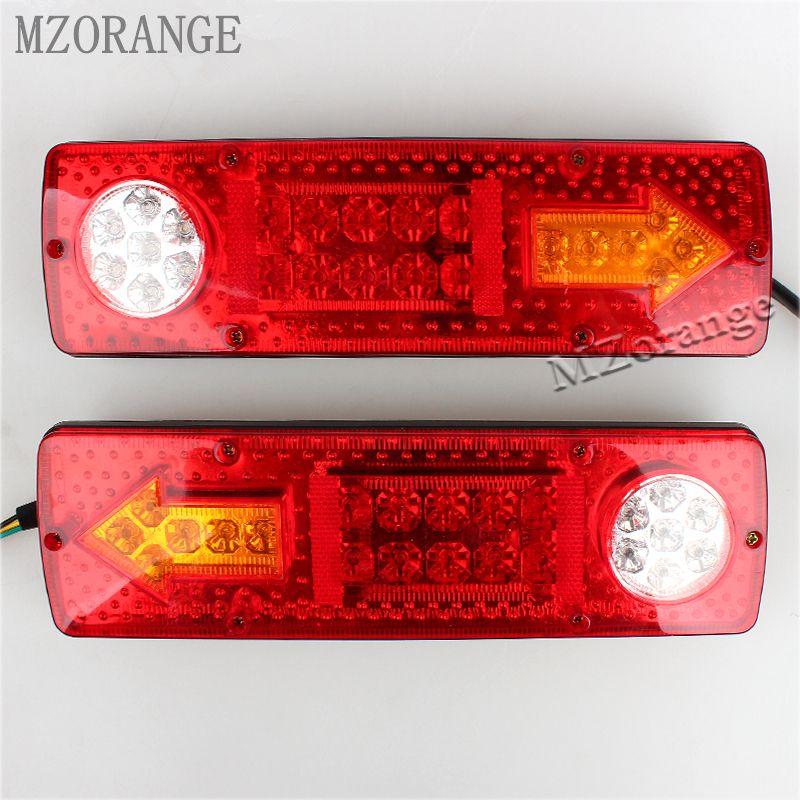 2PCS 12V High Quality 23 LED Trailer Tail Braking Turning Reversing Lights For Caravan Trailer truck Tail Lights Warning light