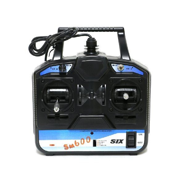New arrival Flysky RC Simulator FS-SM600 6CH USB simulator Support G6 G7 XTR FMS For 3D Helicopter Airplane mode 1/mode2