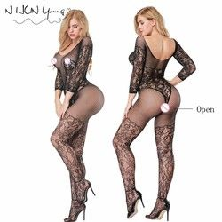 Women Sexy Lingerie Plus Size Hot Erotic Underwear Babydoll Fishnet Sleepwear Sex Costumes Lenceria Erotica Mujer Sexi QQ345