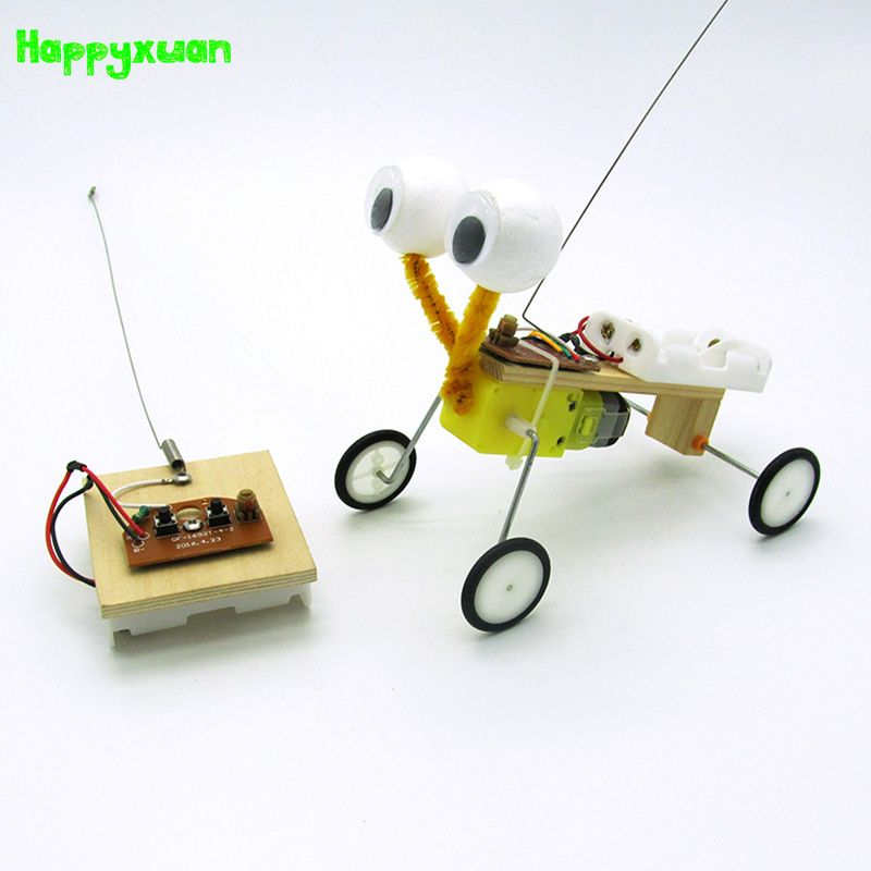 Happyxuan DIY Children Science Experiment Toy Remote Control <font><b>Robot</b></font> Reptile Model Kit Electric Invention Kid Creative Educational
