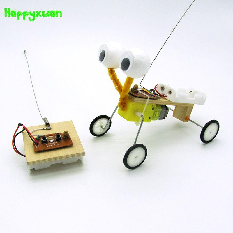Happyxuan DIY Niños Ciencia Juguetes Experimento Robot Modelo de Reptiles de Telecontrol Enfriar Invención Niños Eléctrico 2017 Caliente