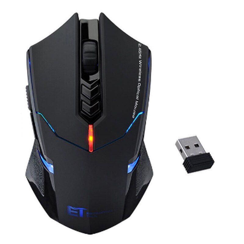2000DPI Adjustable 7 Buttons Scroll Wheel 2.4G USB 2.0 Wireless Mouse Professional Gaming Mouse For PC Desktop Laptop Computer