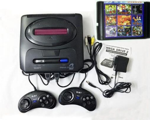 16 bit SEGA MD 2 Video Game Console with US and Japan Mode <font><b>Switch</b></font>,for Original SEGA handles Export Russia with 55 classic games