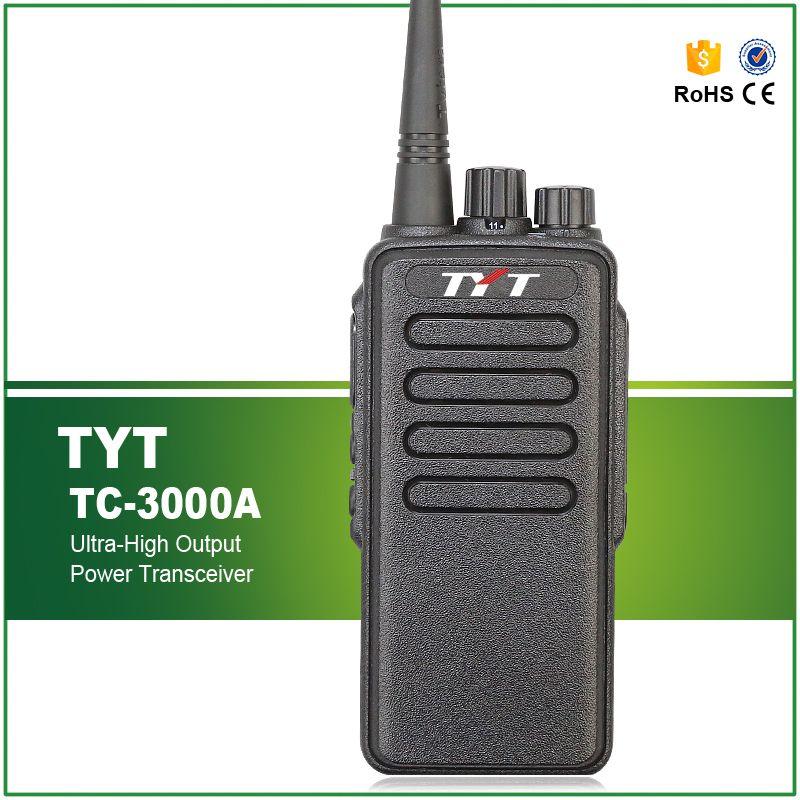 Livraison gratuite 10 W Max VHF 3600 MAH Li-ion haute puissance talkie-walkie TYT TC-3000A