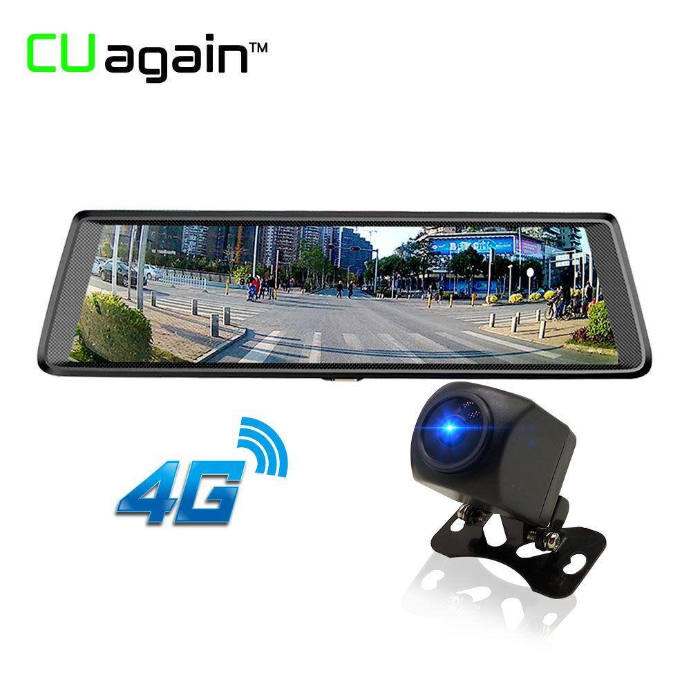 CUagain CU5 10inch 4G Car GPS Android Wifi Car Camera With Rear View Camera Carro Estacionamento ADAS Bluetooth HD 1080P Mirror