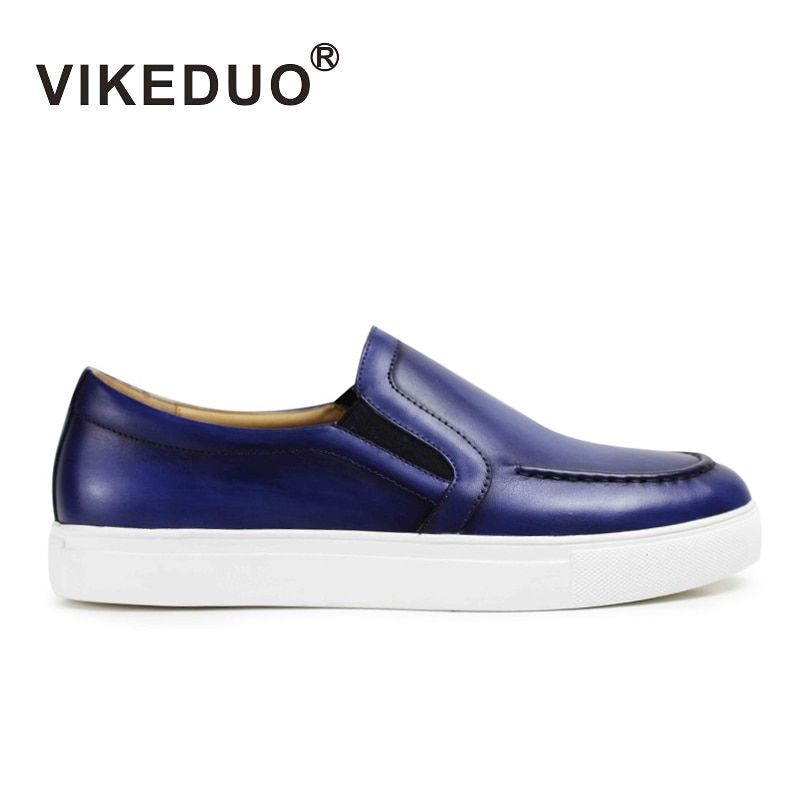 Vikeduo 2018 Summer New Men's Loafers Shoes Genuine Leather Casual Handmade Zapato Masculino Solid Sports Brand Male Shoe Sapato