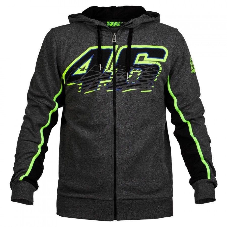 NEW 2016 VR46 Valentino Rossi for Yamaha Motor Men's Zip-up Hoody racing hoodie