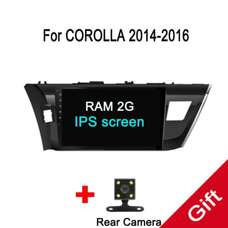 Octa Core Android 7.1 Fit Toyota Corolla/Levin left/right driving 2013 -2015 2016 Car DVD Player Navigation GPS Radio