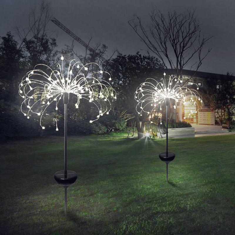 90/150 LED lumière solaire huit modes de fonction pissenlit pelouse lumières/herbe feux d'artifice lampe/extérieur étanche solaire jardin lumière