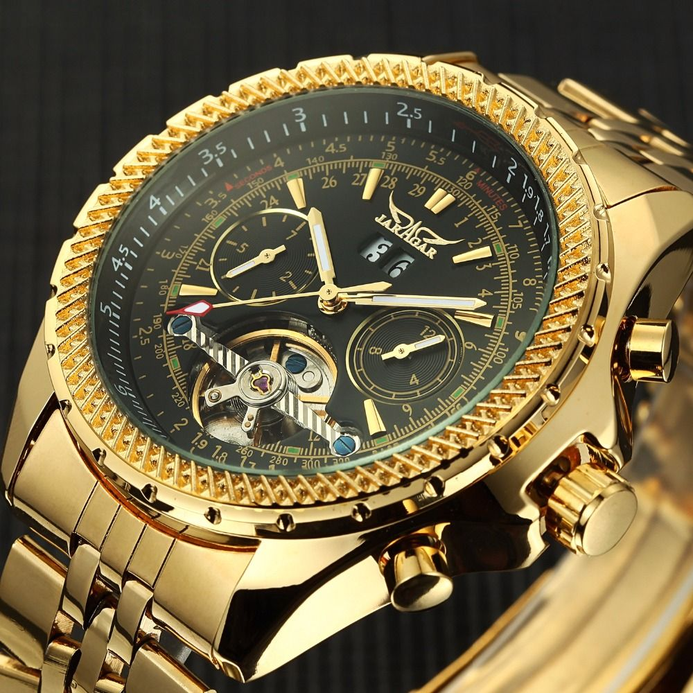 2018 Watches Men Stainless Steel Mechanical Watches Self-Wind Wristwatch Automatic <font><b>Tourbillon</b></font> Watch Relogio Masculino