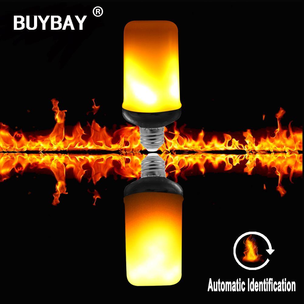Ultra helle 9 Watt E27 E26 Flamme glühbirne 85-265 V 220 V 110 V led-lampe mit flamme feuer 3 modi led-leuchten