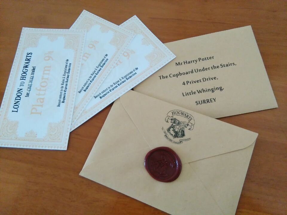 Acceptance Letter Hogwarts gift for HP fans Hogwarts Acceptance Letter With Hogwarts Express Train Ticket